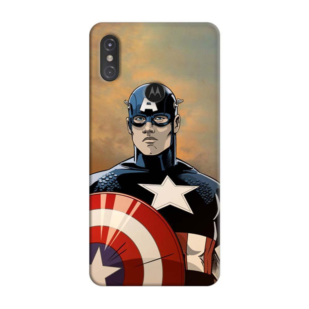 premium selection 71054 d60be Mangomask Motorola One Power Mobile Phone Case Back Cover Custom Printed  Designer Series Captain America 01