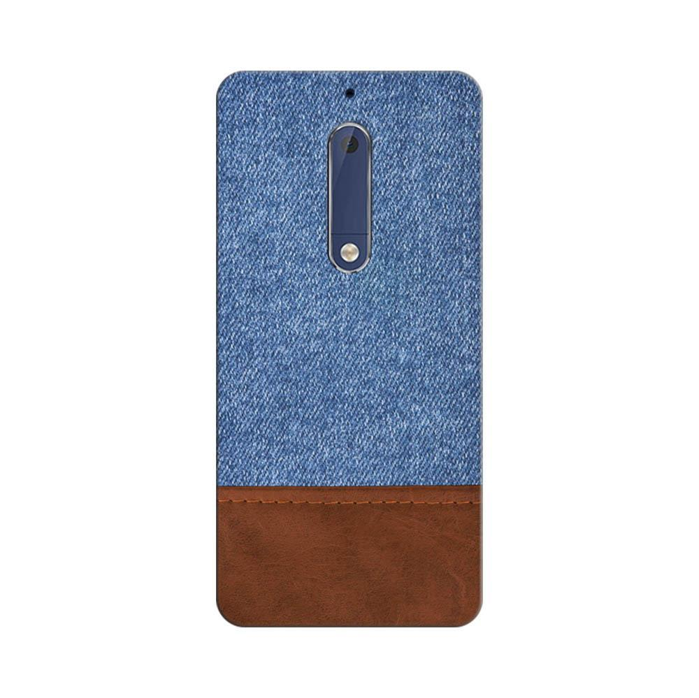 the best attitude ad4e8 21335 Mangomask Nokia 5 Mobile Phone Case Back Cover Custom Printed Designer  Series Blue Leather Jeans