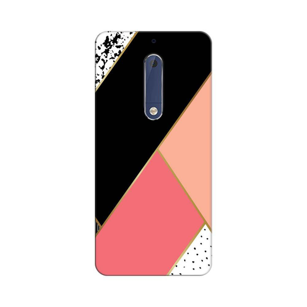 official photos a1db5 a1490 Mangomask Nokia 5 Mobile Phone Case Back Cover Custom Printed Designer  Series Black And Pink Cute Pattern