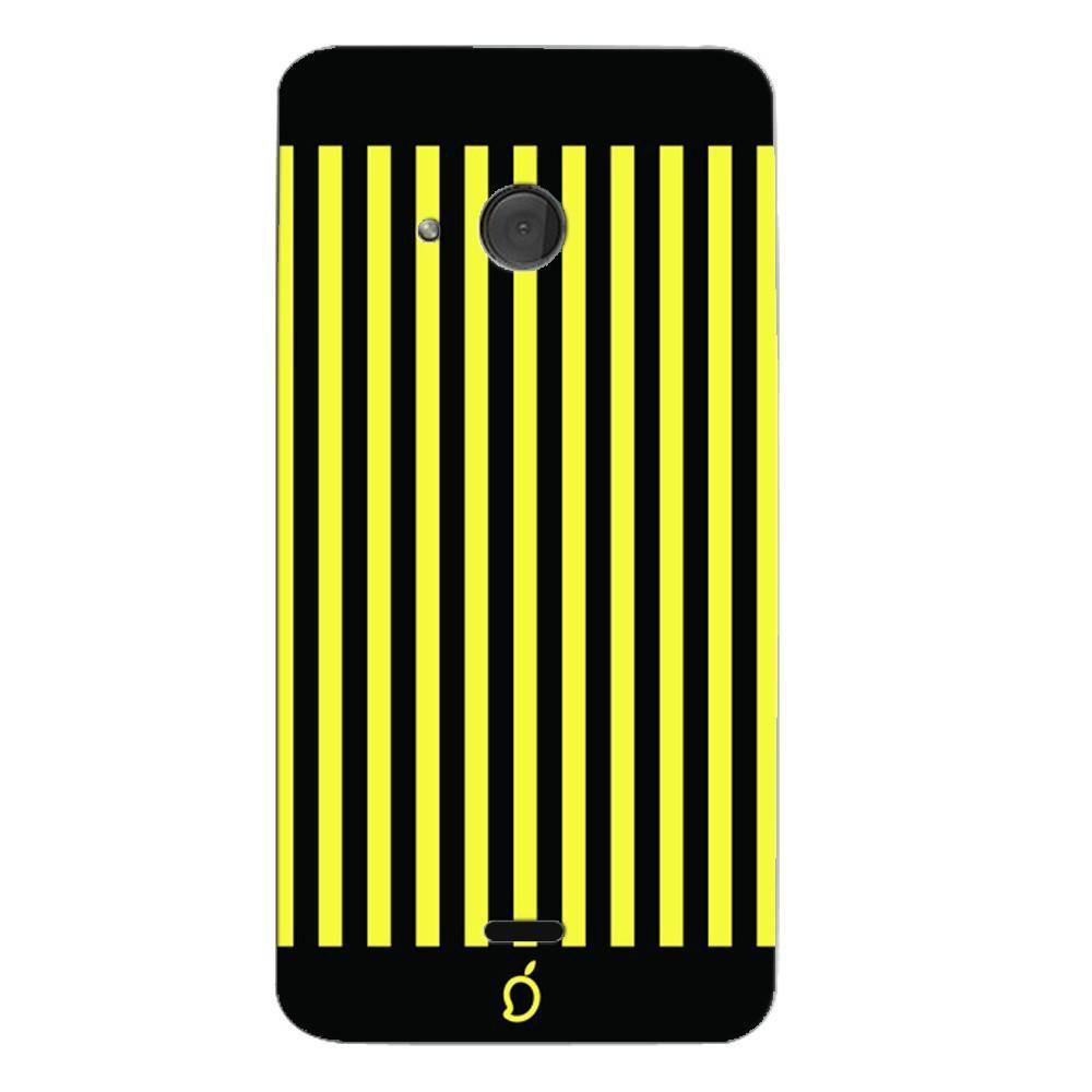 new concept 1449b f1ace Mangomask Nokia Lumia 540 Mobile Phone Case Back Cover Custom Printed Neon  Series Corn Yellow Striped Eight