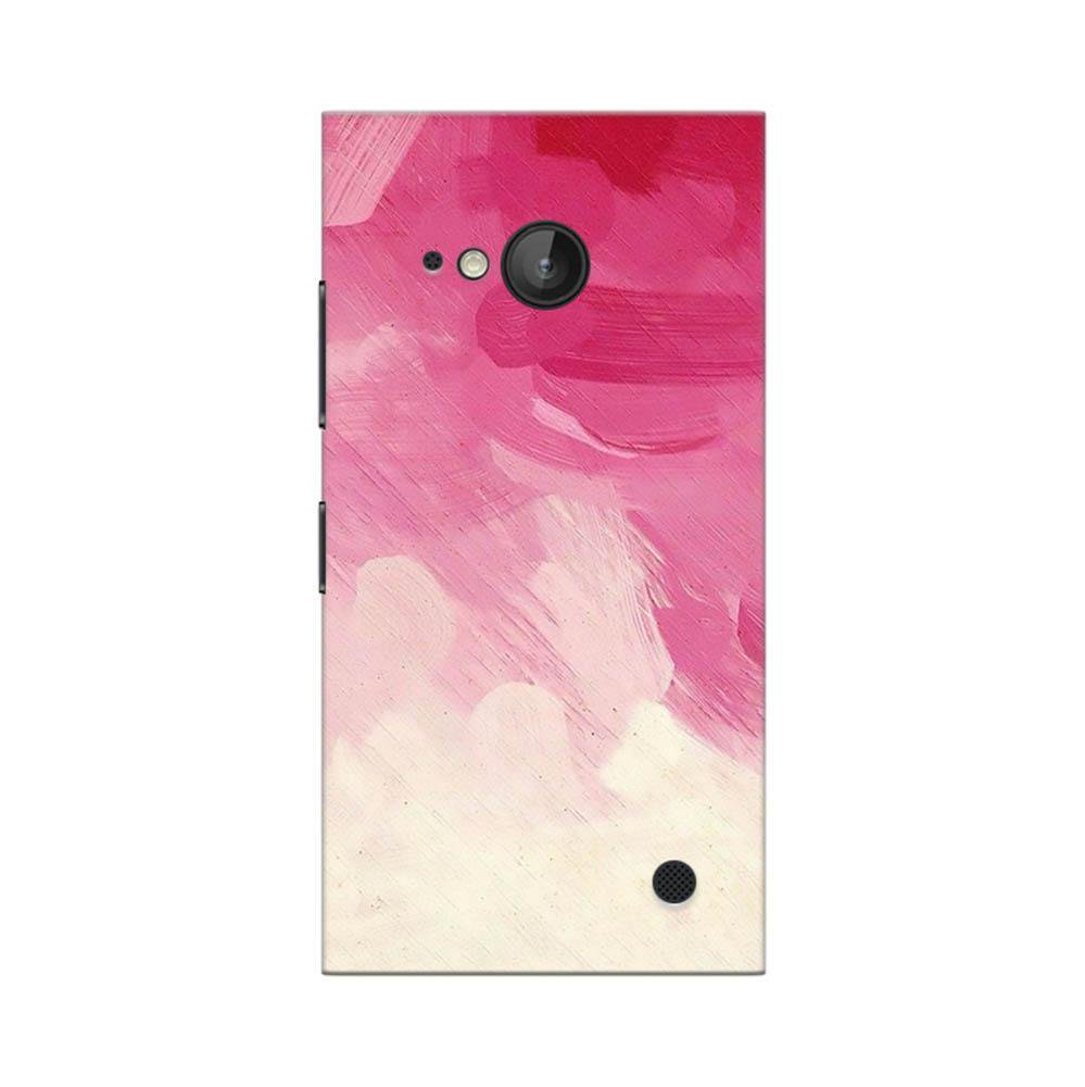 huge discount 6f8bb 21cc0 Mangomask Nokia Lumia 730 Mobile Phone Case Back Cover Custom Printed  Designer Series Pink And White Brush Strokes