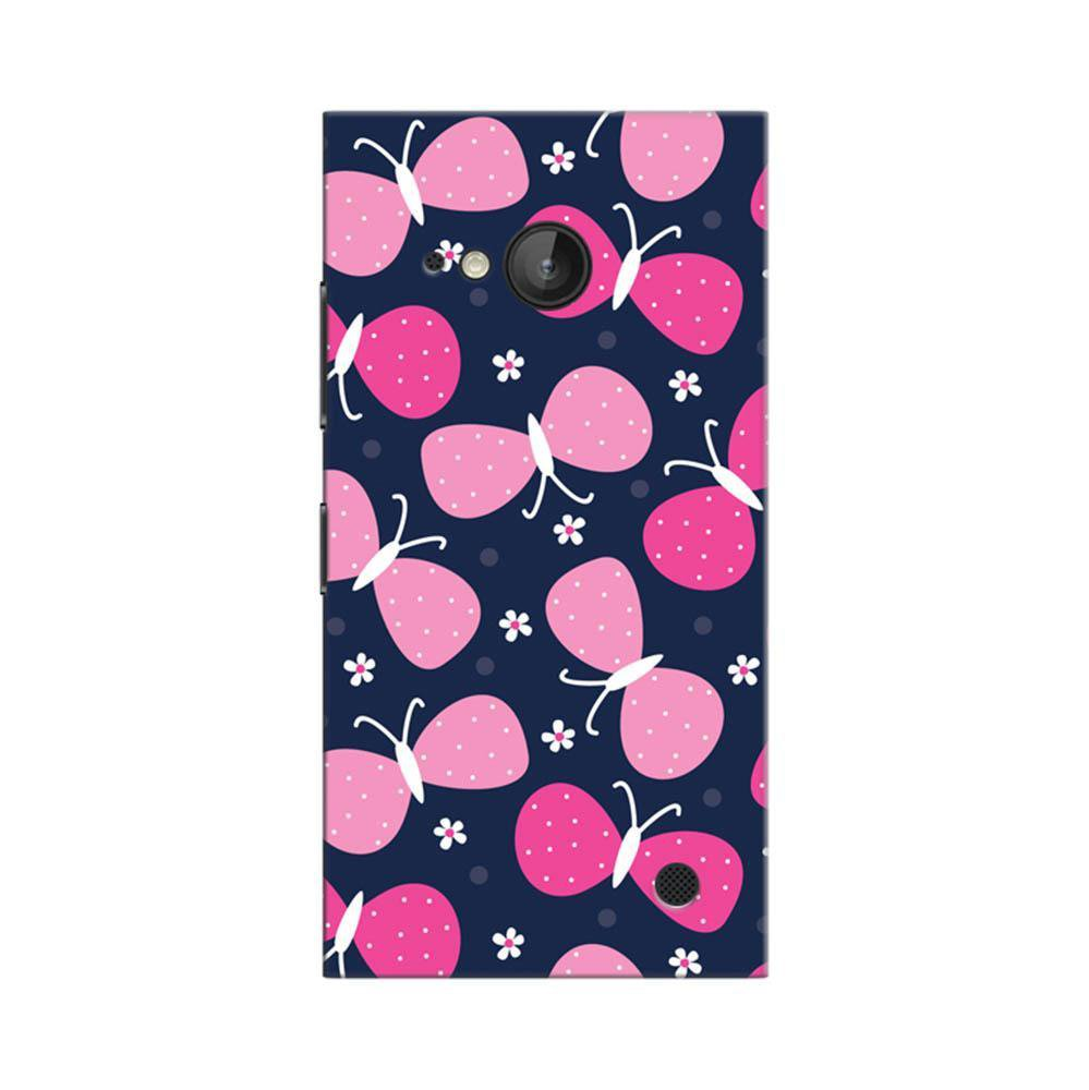 the best attitude a8623 28fc8 Mangomask Nokia Lumia 730 Mobile Phone Case Back Cover Custom Printed  Designer Series Pink Butterflies