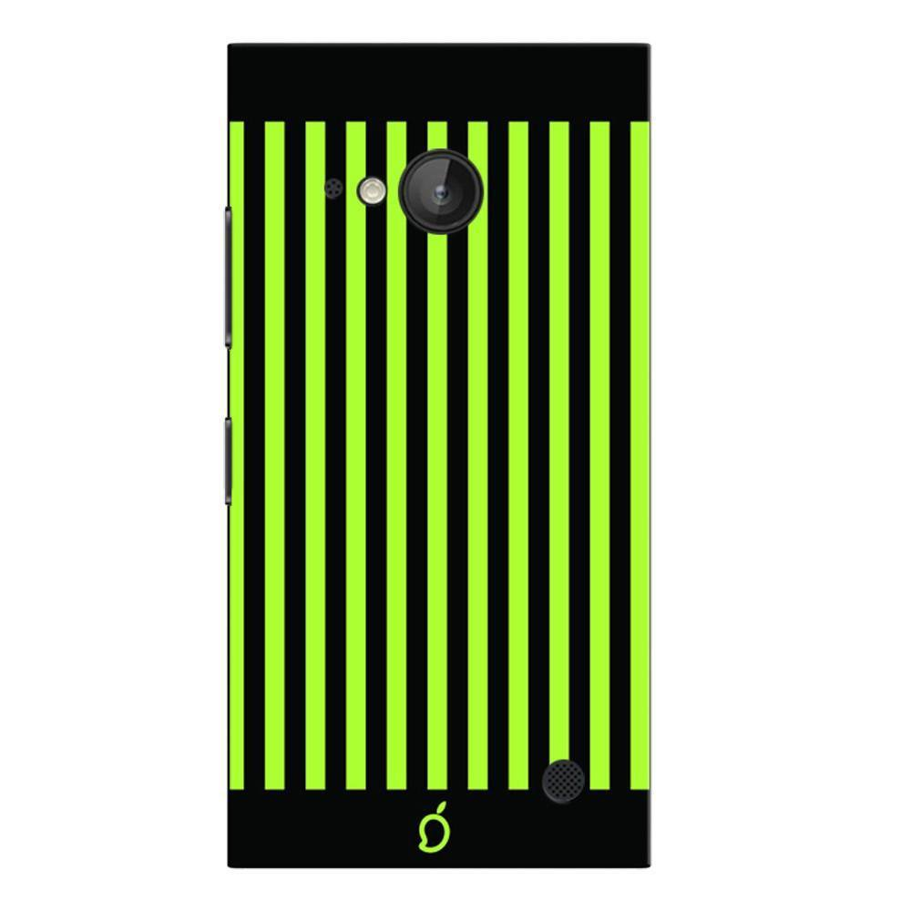 lowest price 0f34c a57f6 Mangomask Nokia Lumia 730 Mobile Phone Case Back Cover Custom Printed Neon  Series Inchworm Green Striped Eight