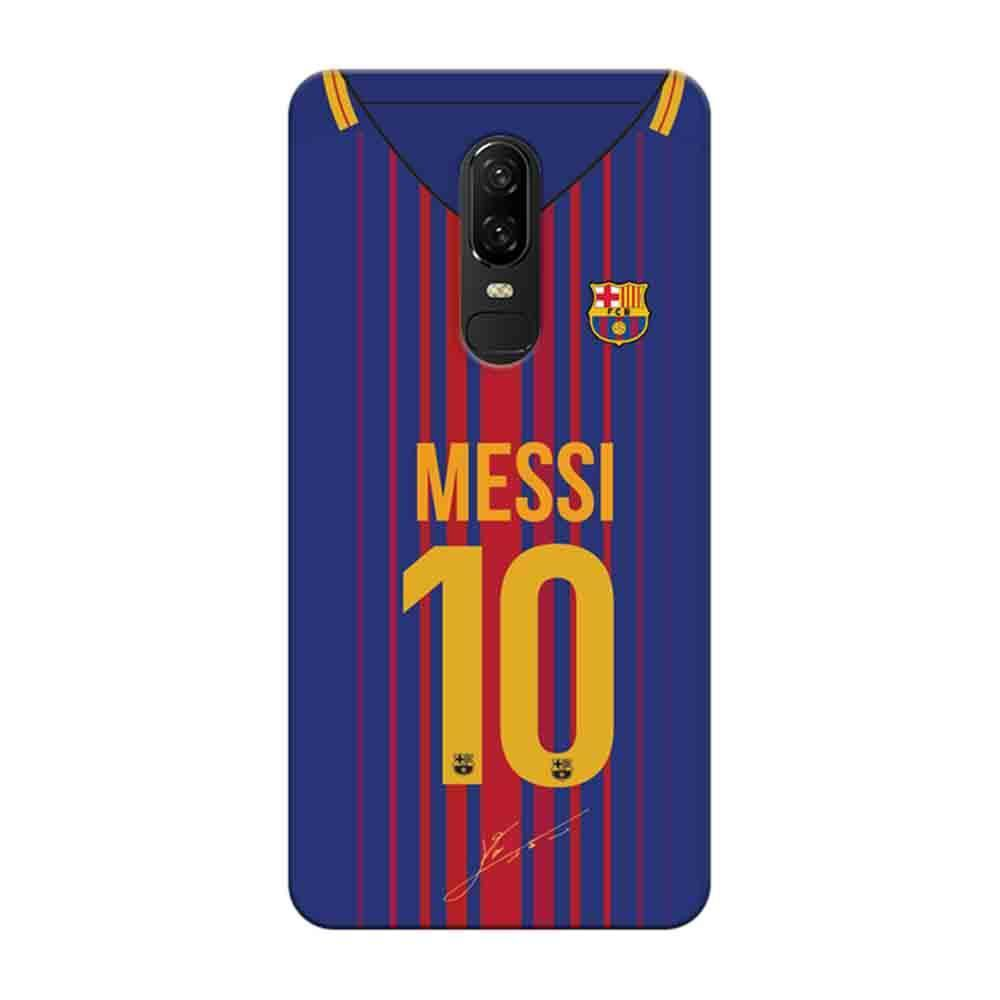 cheap for discount 8543b 1fb5b Mangomask OnePlus 6 Mobile Phone Case Back Cover Custom Printed Designer  Series Lionel Messi 10 Jersey 02