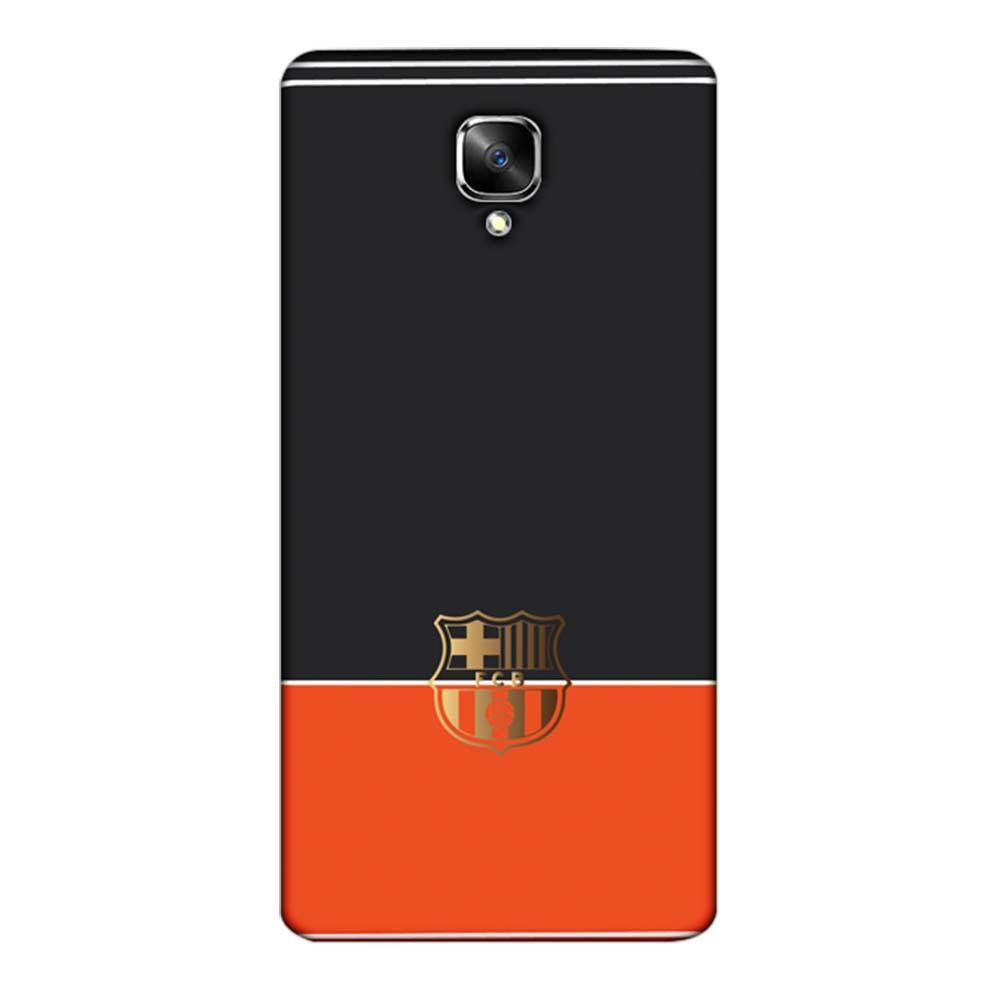 new products 160da b36bf Mangomask OnePlus 3 / OnePlus 3T Mobile Phone Case Back Cover Custom  Printed Designer Series Barcelona Logo Black and Orange