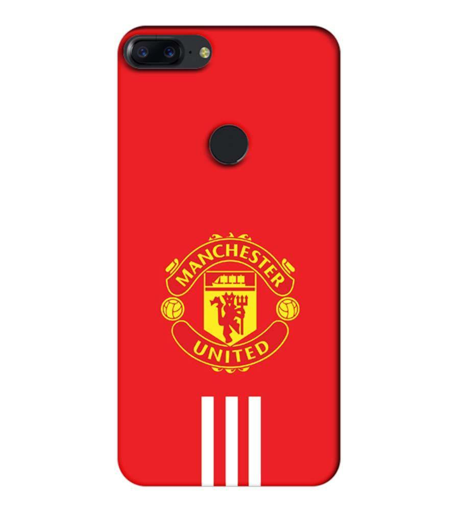 reputable site 7fd85 9d7a1 Mangomask OnePlus 5T Mobile Phone Case Back Cover Custom Printed Designer  Series Manchester United Logo 03