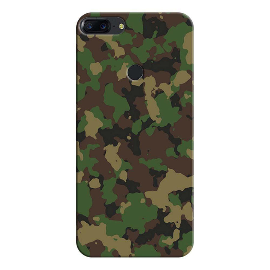 Mangomask OnePlus 5T Mobile Phone Case Back Cover Custom Printed Designer Series Green Military