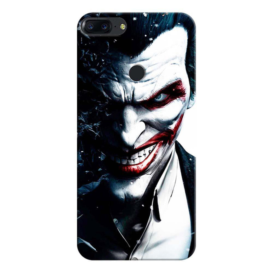 Mangomask OnePlus 5T Mobile Phone Case Back Cover Custom Printed Designer Series Red Eye Joker