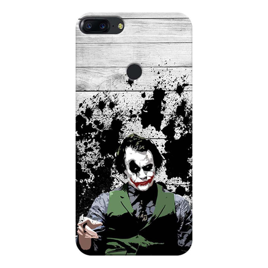 Mangomask OnePlus 5T Mobile Phone Case Back Cover Custom Printed Designer Series Joker The Dark Knight