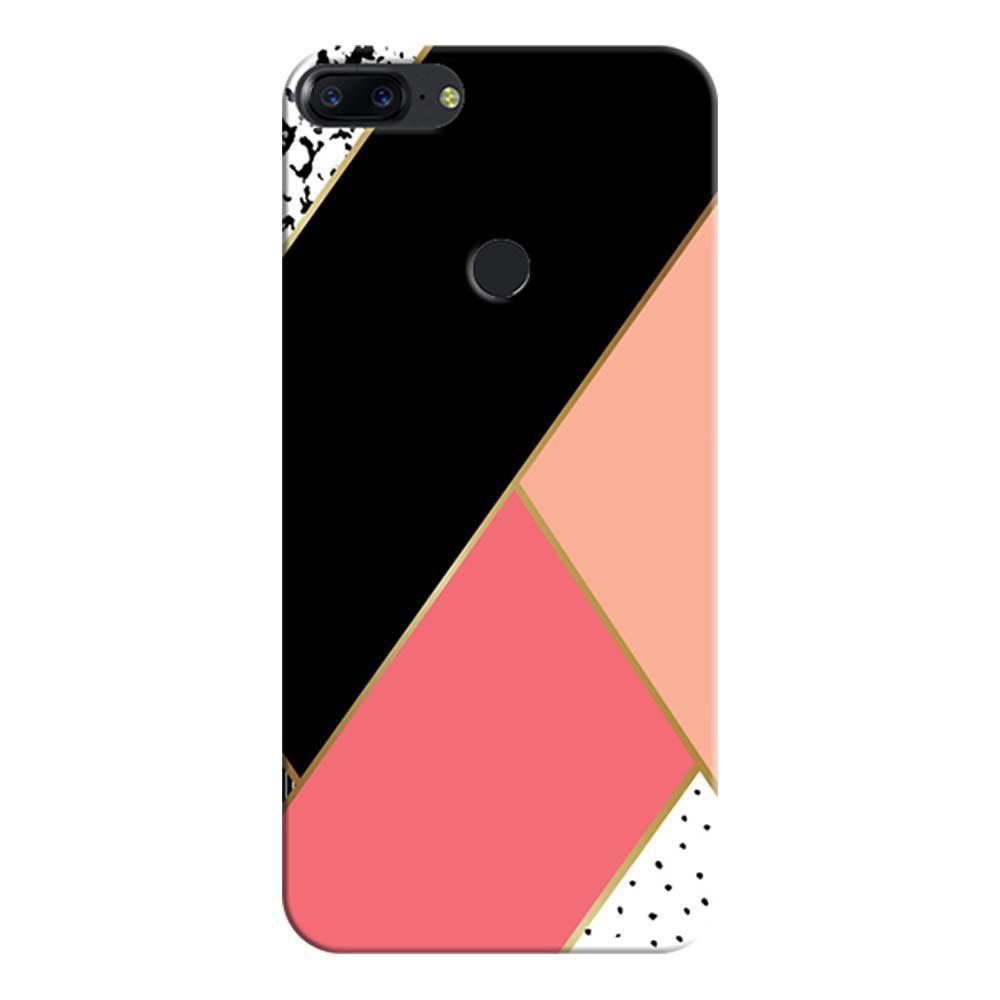 competitive price 049cd badd9 Mangomask OnePlus 5T Mobile Phone Case Back Cover Custom Printed Designer  Series Black And Pink Cute Pattern
