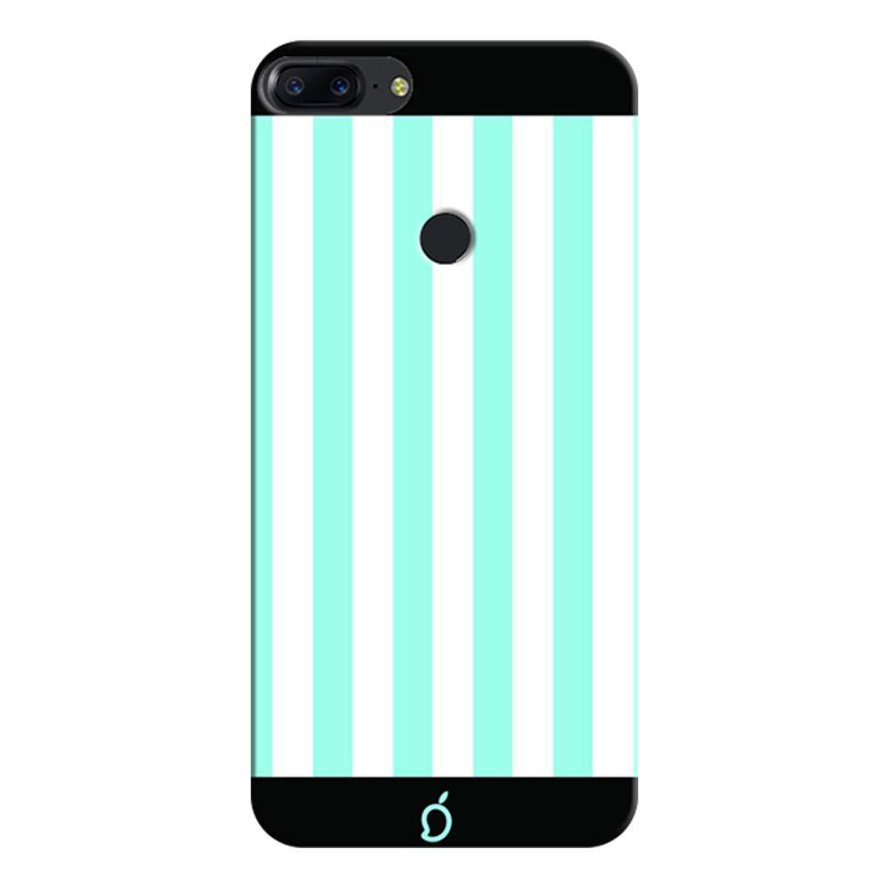 new products cdd3e c67aa Mangomask OnePlus 5T Mobile Phone Case Back Cover Custom Printed Neon  Series Electric Blue Striped 7