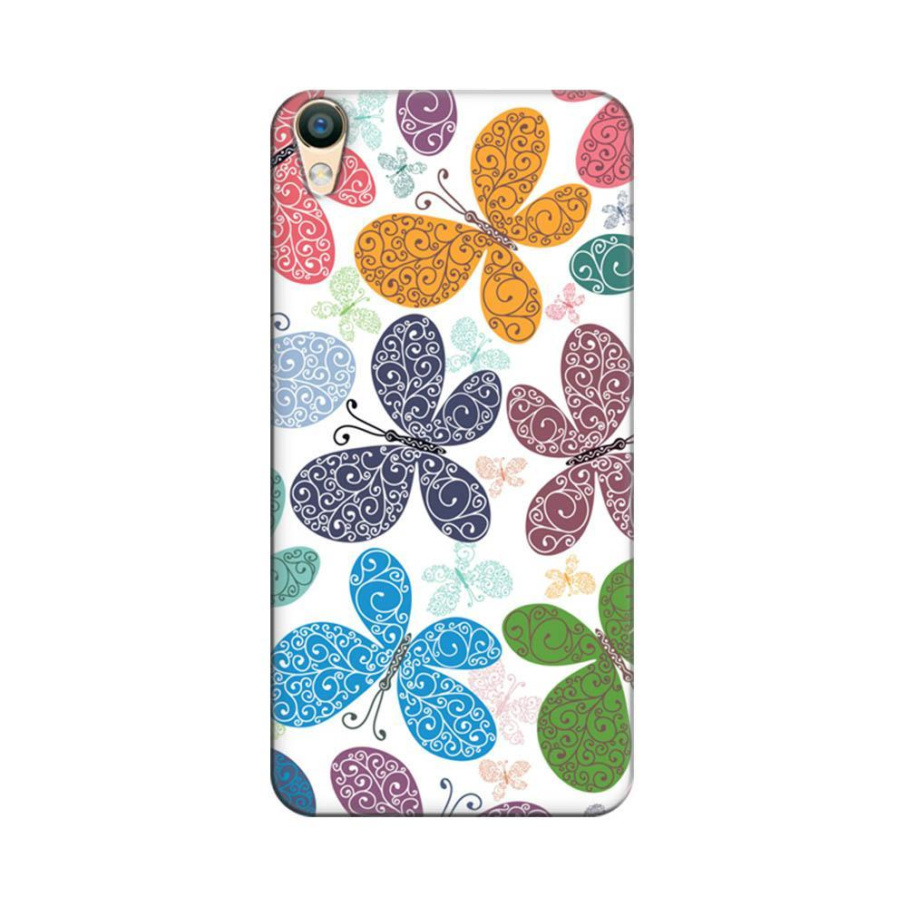 buy online 9ae4d 8feae Mangomask Oppo A37 Mobile Phone Case Back Cover Custom Printed Designer  Series Cute Colour Butterflies