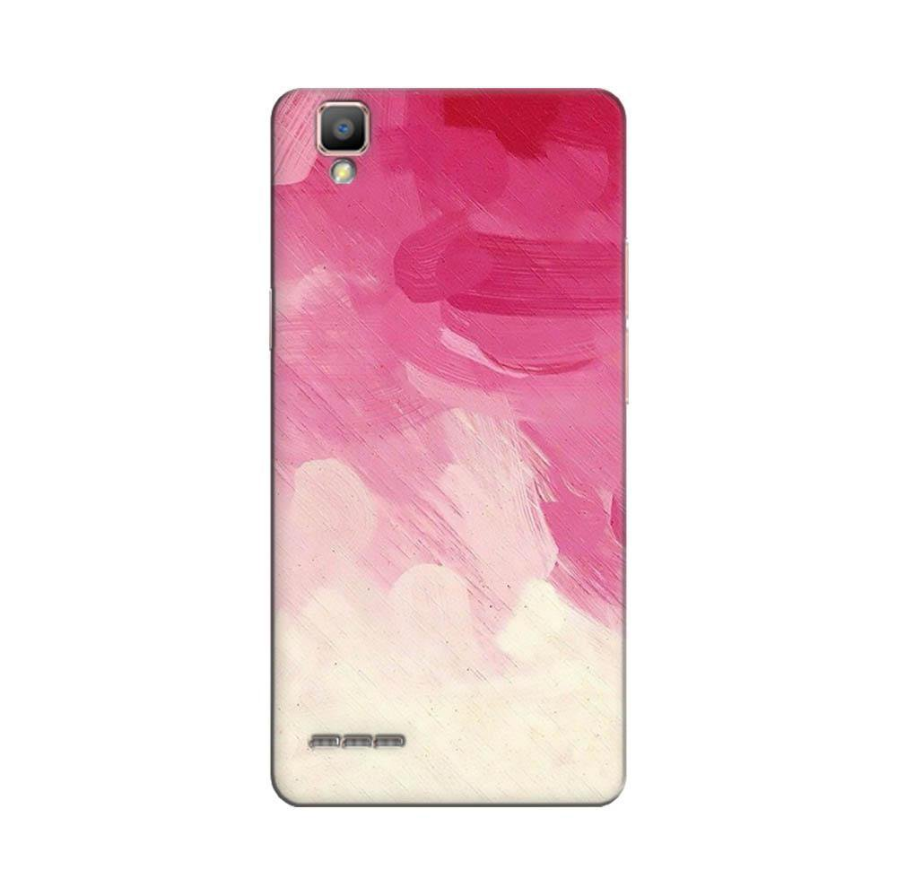 purchase cheap baaa3 06088 Mangomask Oppo F1 Mobile Phone Case Back Cover Custom Printed Designer  Series Pink And White Brush Strokes