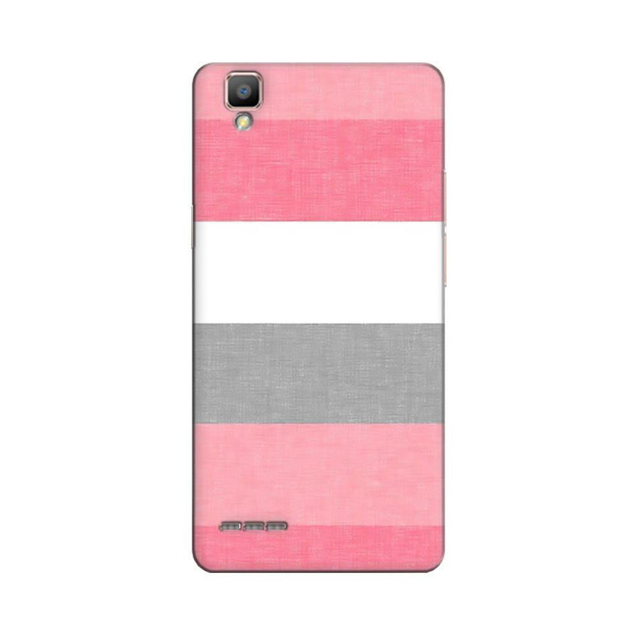 Mangomask Oppo F1 Plus Mobile Phone Case Back Cover Custom Printed Designer Series Colorful Pink Stripes