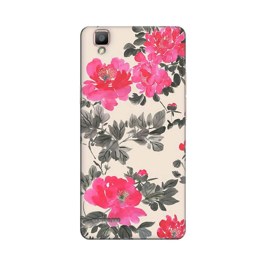 Mangomask Oppo F1 Plus Mobile Phone Case Back Cover Custom Printed Designer Series Pink And Black Floral