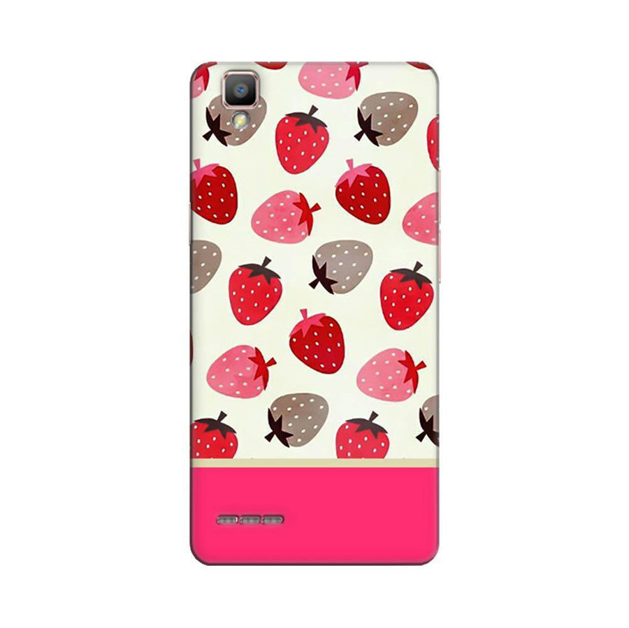 Mangomask Oppo F1 Plus Mobile Phone Case Back Cover Custom Printed Designer Series Red And Pink Strawberries