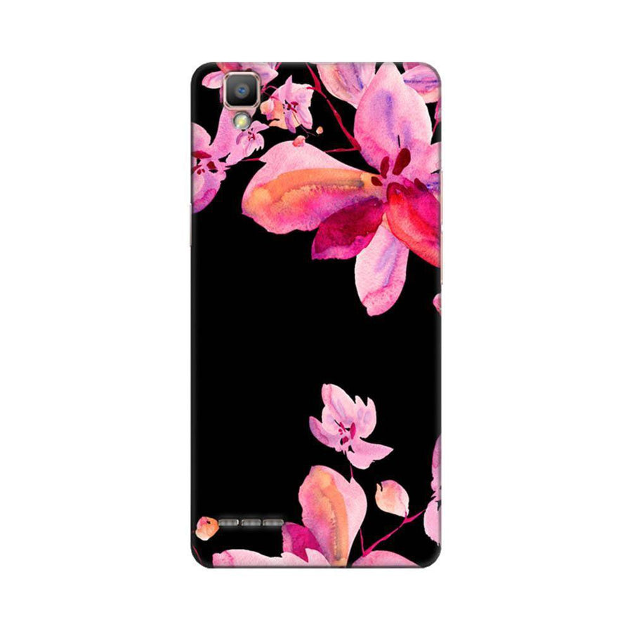 Mangomask Oppo F1 Plus Mobile Phone Case Back Cover Custom Printed Designer Series Black And Pink Floral Two