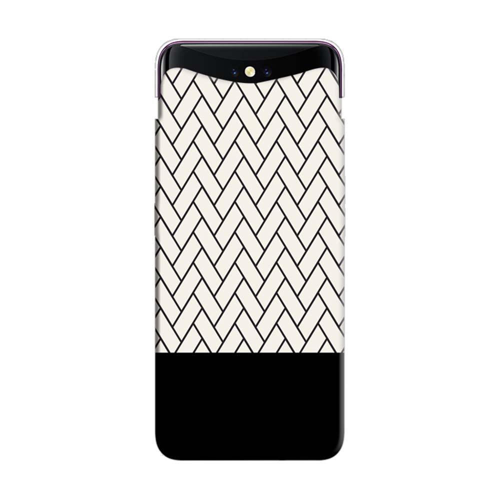 huge selection of 3dafd fc53e Mangomask Oppo Find X Mobile Phone Case Back Cover Custom Printed Designer  Series White And Black Boxes Pattern Two