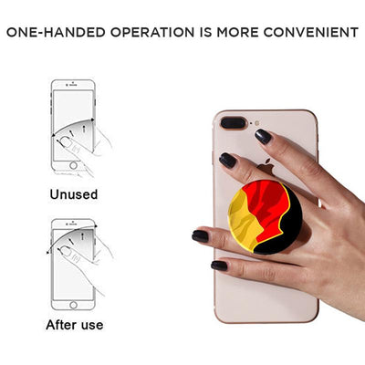 POPSOCKETS BLACK Mangomask™ Pop Sockets - Awesome Designs To Choose Illustration Neon Flower (Black base /White base)