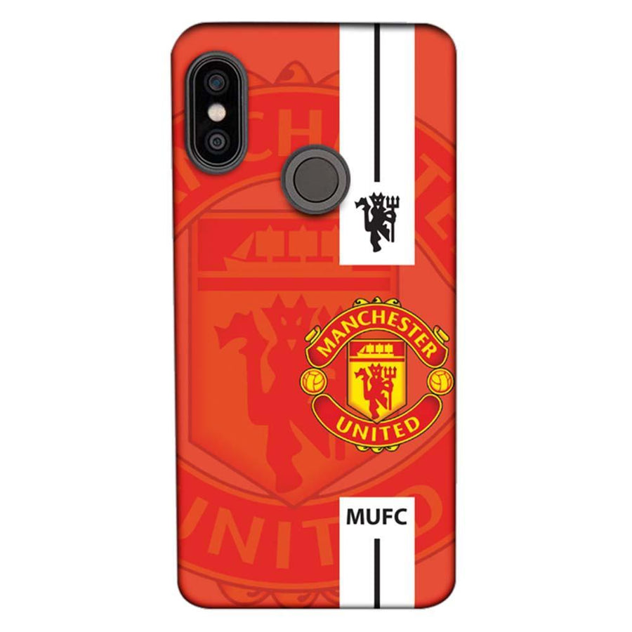 Mangomask Xiaomi Redmi Note 5 Pro Mobile Phone Case Back Cover Custom Printed Designer Series  Manchester United Logo