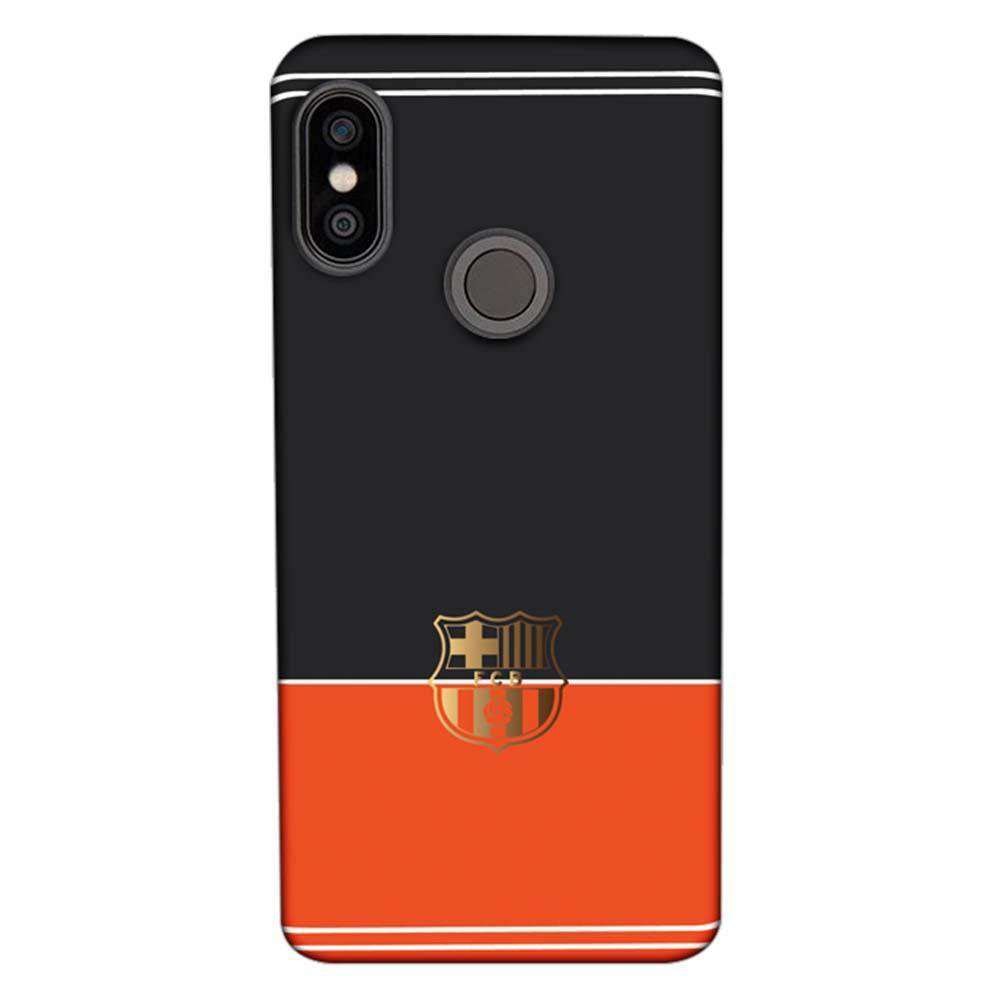 competitive price 004c7 0391b Mangomask Xiaomi Redmi Note 5 Pro Mobile Phone Case Back Cover Custom  Printed Designer Series Barcelona Logo Black and Orange
