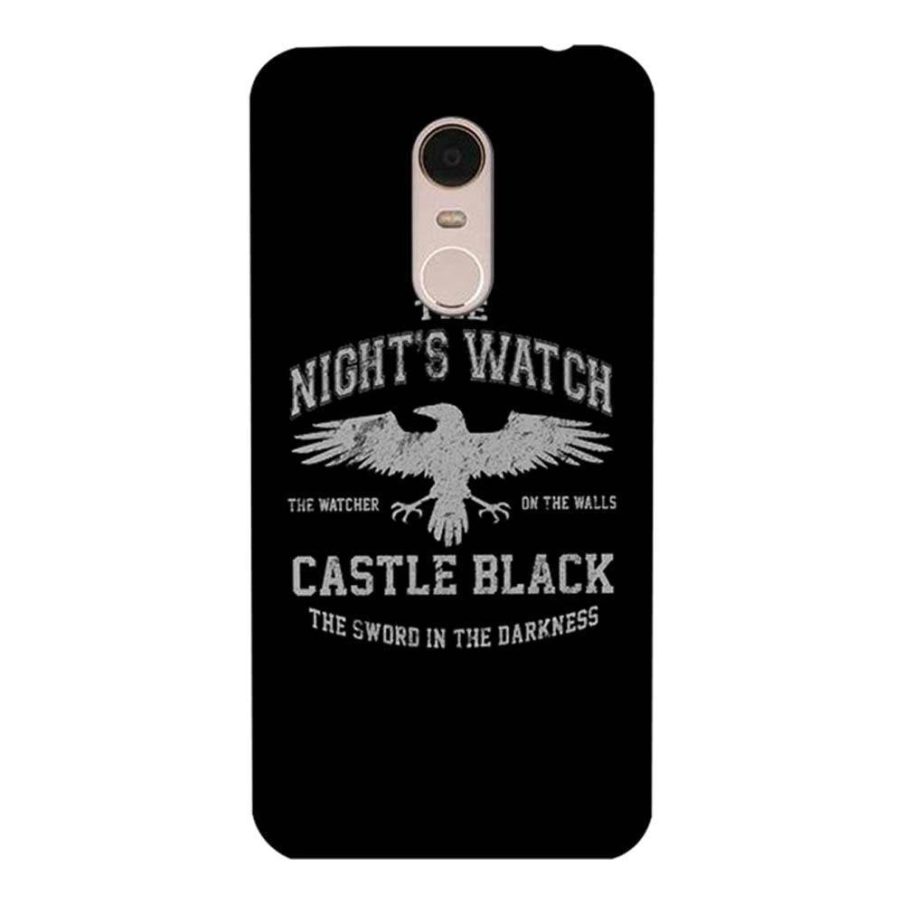 on sale d44f3 78cdf Mangomask Xiaomi Redmi Note 5 Mobile Phone Case Back Cover Custom Printed  Designer Series Nights Watch Game Of Thrones (Got)