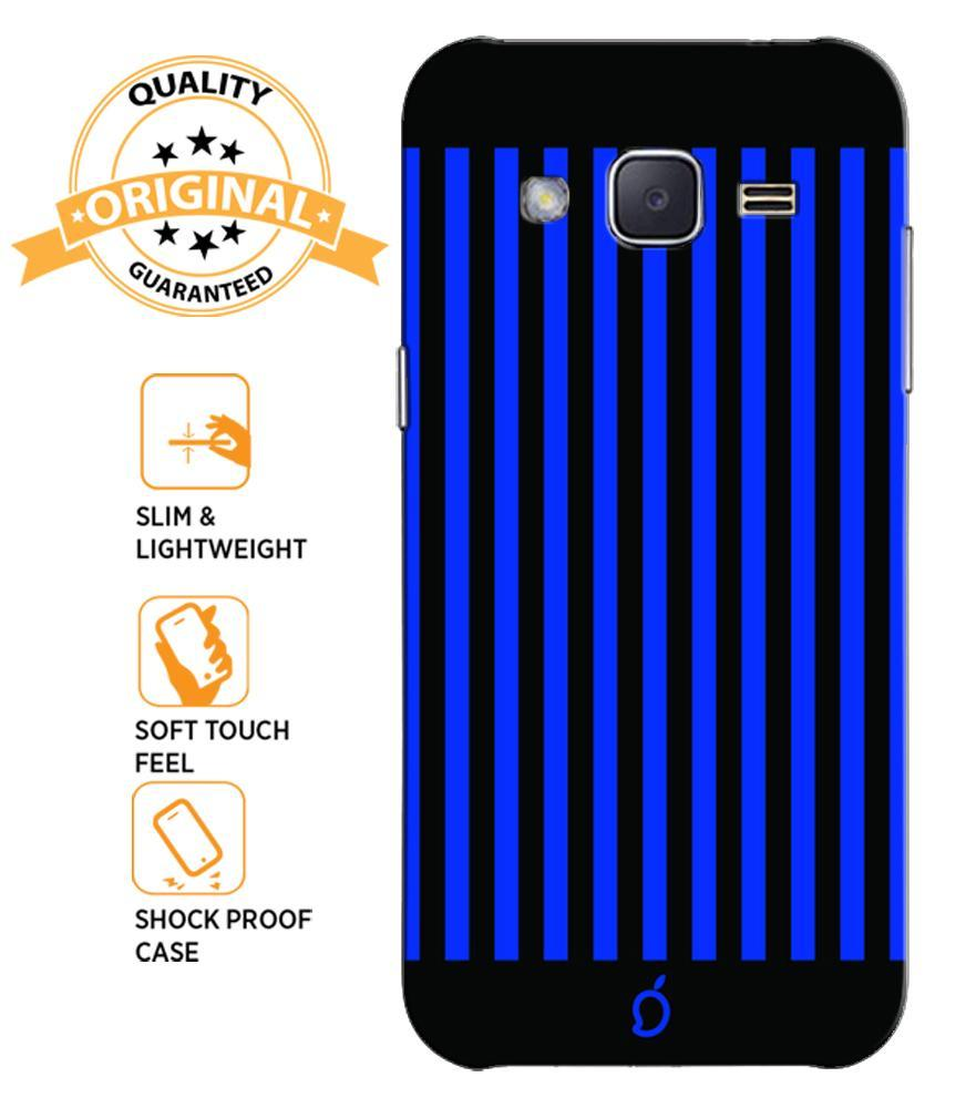 hot sale online e01ee 1b061 Mangomask Samsung Galaxy Core Prime Mobile Phone Case Back Cover Custom  Printed Neon Series Royal Blue Striped Eight