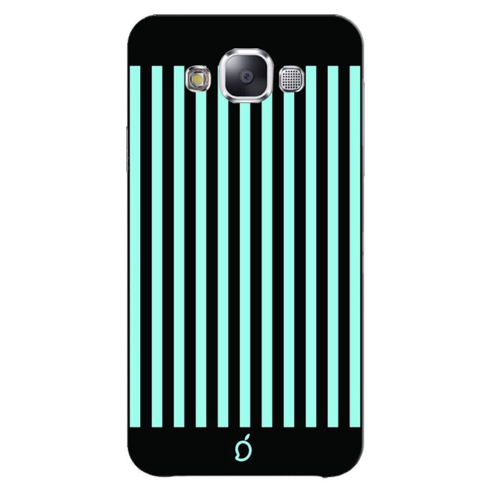 Samsung Galaxy E5 Mobile Phone Cases And Back Covers Mangomask Case Cover Custom Printed Neon Series Electric Blue Striped