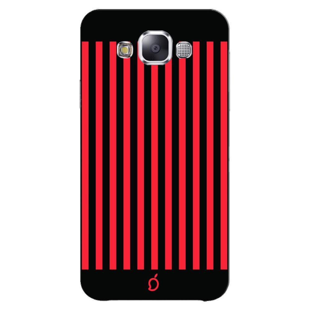 Samsung Galaxy E5 Mobile Phone Cases And Back Covers Mangomask Case Cover Custom Printed Neon Series Carmine Red Striped