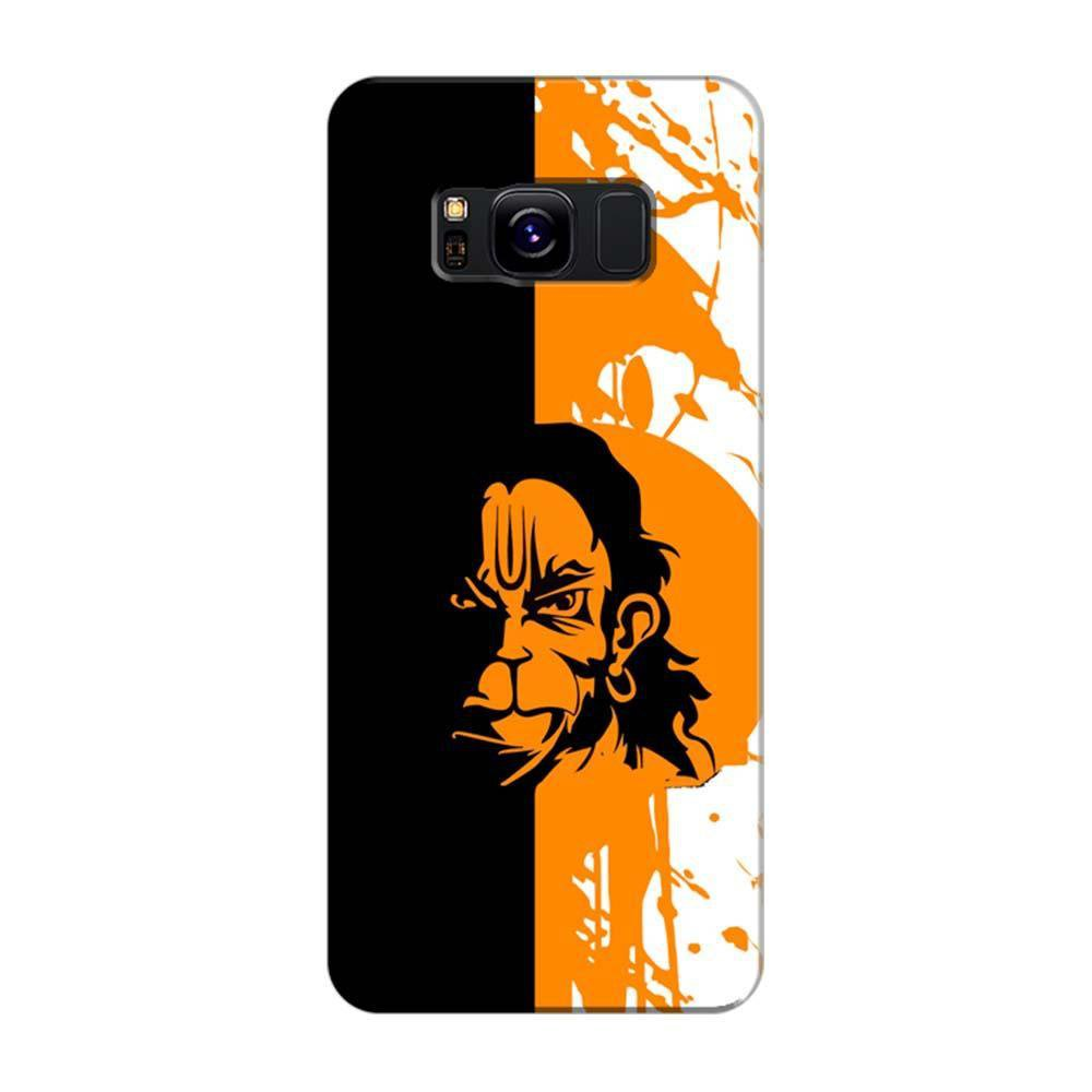 new arrival 3874b 629bc MangomaskSamsung Galaxy S8 Plus Mobile Phone Case Back Cover Custom Printed  Designer Series Hanuman Black