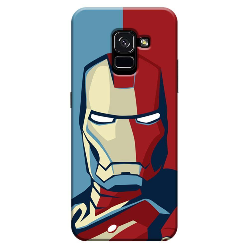 sports shoes d3ad6 53eaf Mangomask Samsung Galaxy A8 Plus Mobile Phone Case Back Cover Custom  Printed Designer Series Comic Iron Man