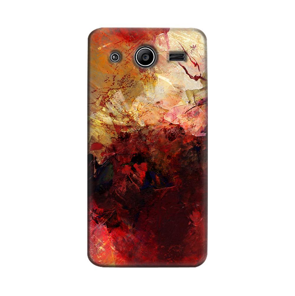 quality design 6fc12 b16bf Mangomask Samsung Galaxy Core 2 Mobile Phone Case Back Cover Custom Printed  Designer Series Red And Gold Brush Strokes