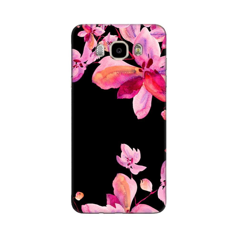 new style 1d189 6cfc7 Mangomask Samsung Galaxy J5 2016 ( J510 Model) Mobile Phone Case Back Cover  Custom Printed Designer Series Black And Pink Floral Two
