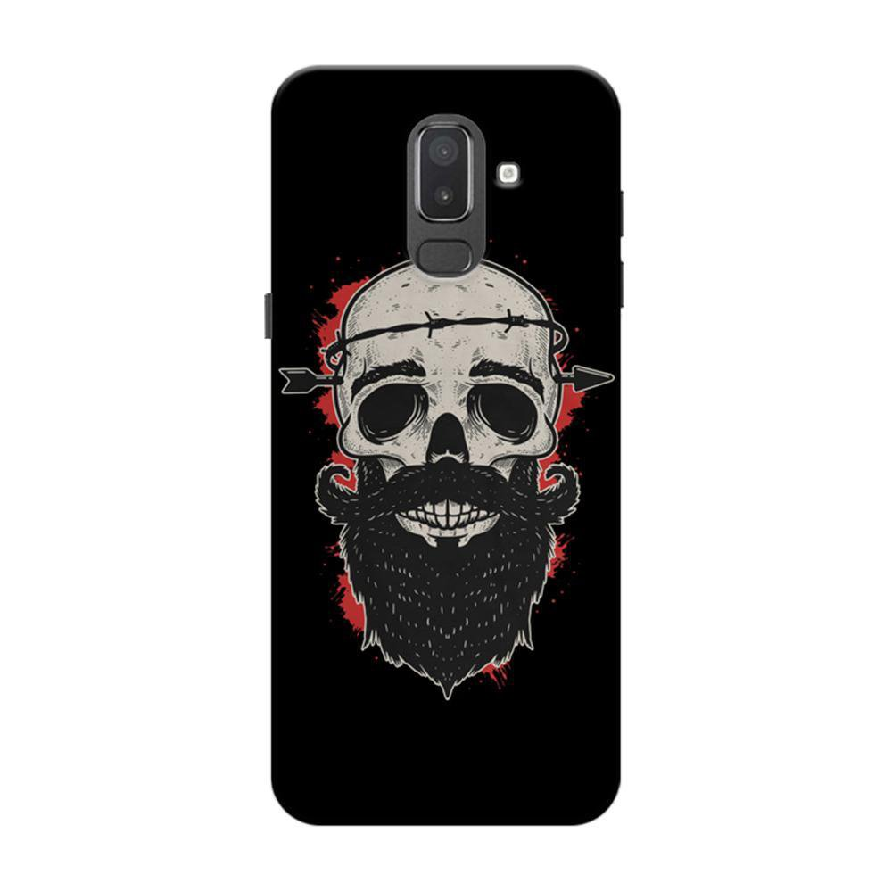 newest c6e9f 4e6ba Mangomask Samsung Galaxy J6 (Infinity Displays) Mobile Phone Case Back  Cover Custom Printed Designer Series Beard Arrow Skull