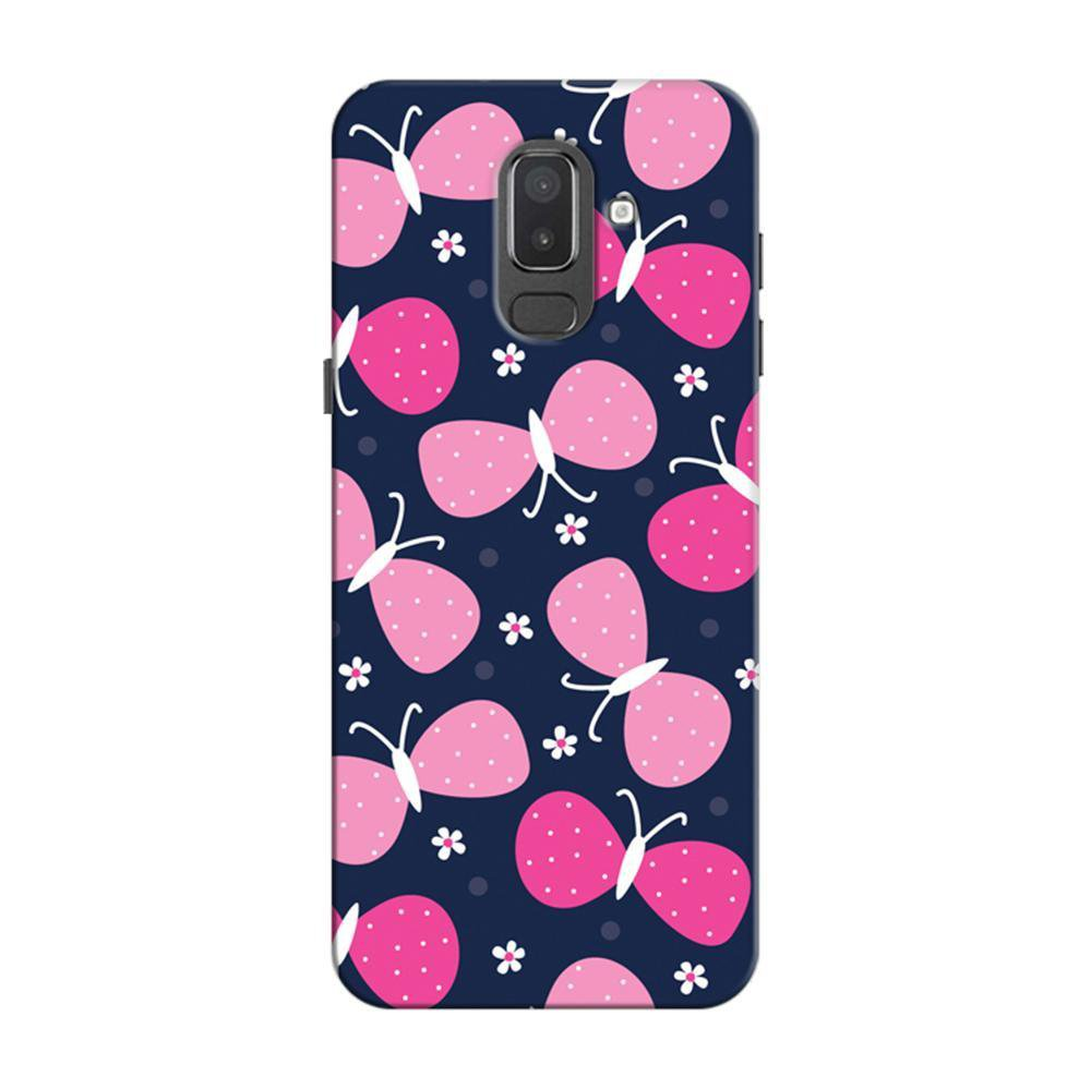 online store 05448 a318e Mangomask Samsung Galaxy J6 (Infinity Displays) Mobile Phone Case Back  Cover Custom Printed Designer Series Pink Butterflies