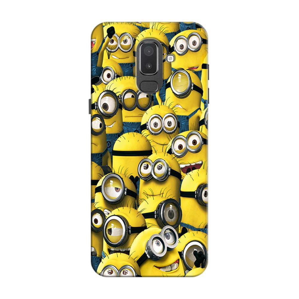wholesale dealer c5922 4a7b8 Mangomask Samsung Galaxy J6 (Infinity Displays) Mobile Phone Case Back  Cover Custom Printed Designer Series Funny Minions Despicable Me