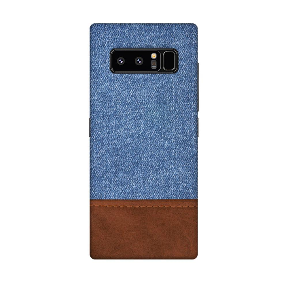 detailed look 8724c 8b735 Mangomask Samsung Galaxy Note 8 Mobile Phone Case Back Cover Custom Printed  Designer Series Blue Leather Jeans