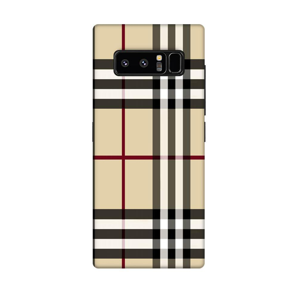 new product 003bc 53a12 Mangomask Samsung Galaxy Note 8 Mobile Phone Case Back Cover Custom Printed  Designer Series Burberry Pattern