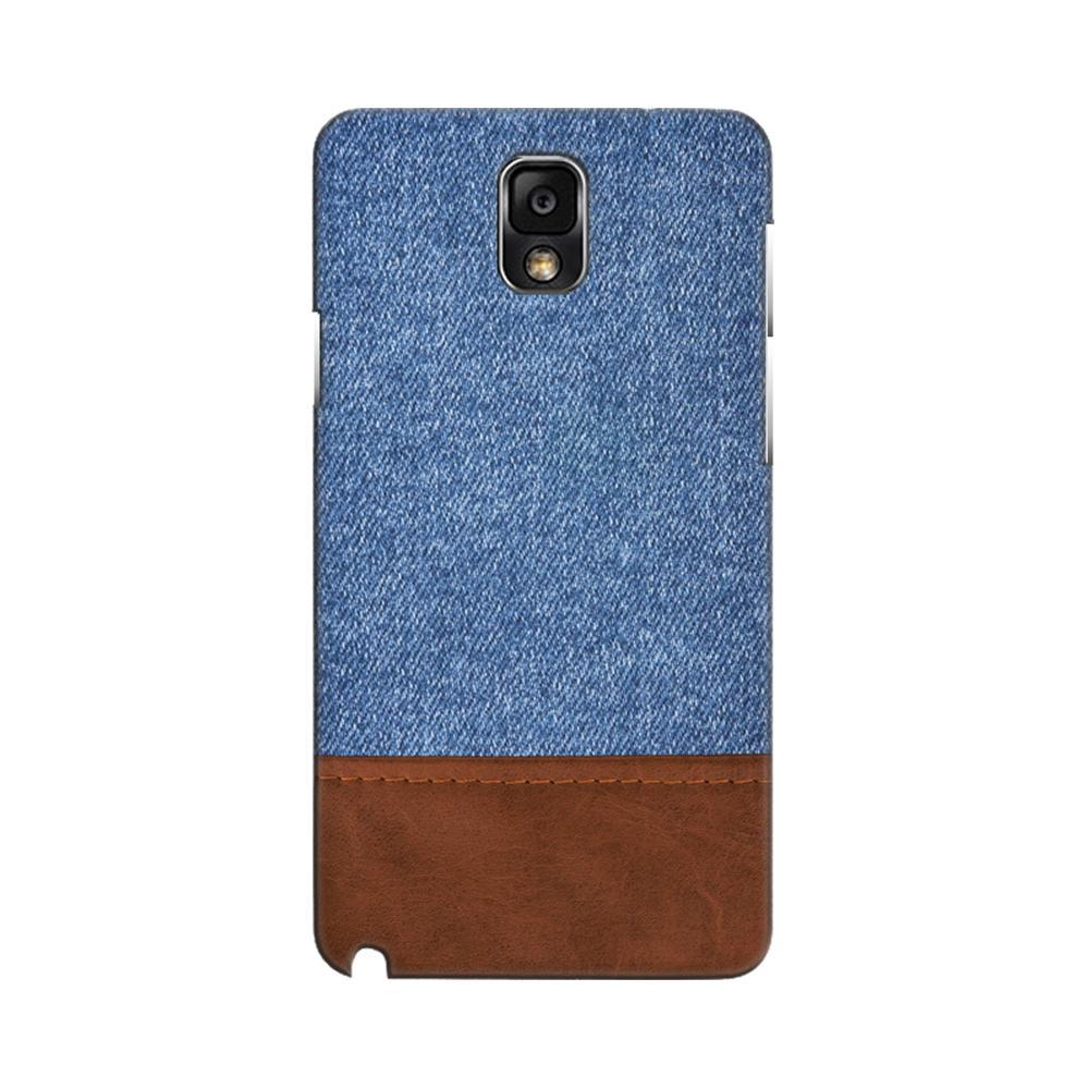 lowest price fe291 8c8d5 Mangomask Samsung Galaxy Note 3 Mobile Phone Case Back Cover Custom Printed  Designer Series Blue Leather Jeans
