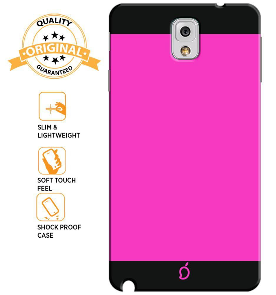 new styles 319a7 af164 Mangomask Samsung Galaxy Note 3 Mobile Phone Case Back Cover Custom Printed  Neon Series Dark Pink Striped Two