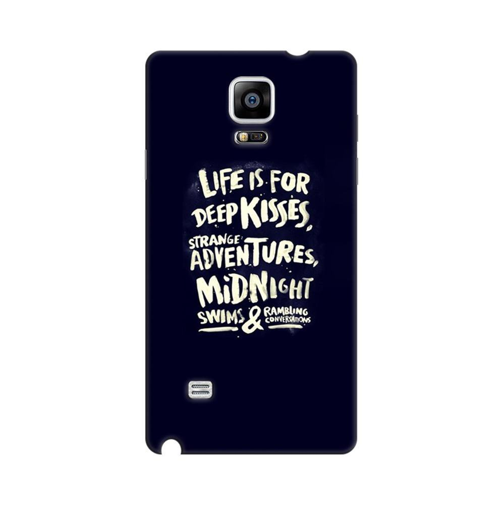 big sale a8361 15199 Mangomask Samsung Galaxy Note 4 Mobile Phone Case Back Cover Custom Printed  Designer Series Life Is For Kisses