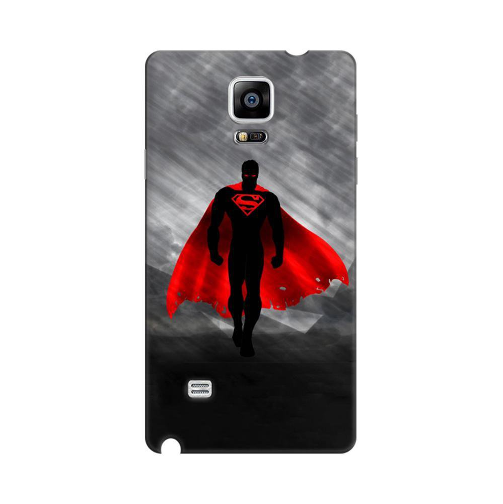 Mangomask Samsung Galaxy Note 4 Mobile Phone Case Back Cover Custom Printed  Designer Series Black Super Man