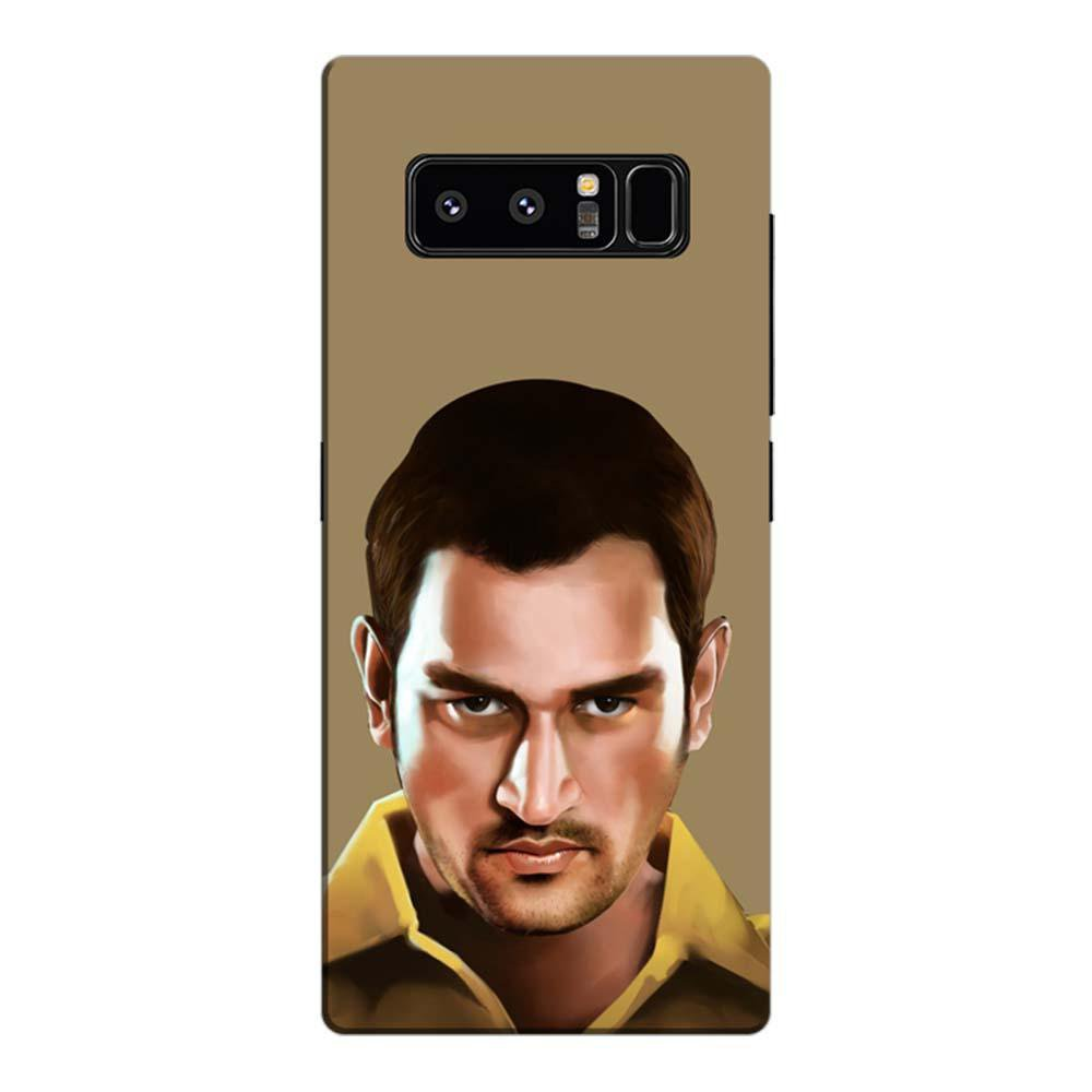 buy online 089ad 0beea MangomaskSamsung Galaxy Note 8 Mobile Phone Case Back Cover Custom Printed  Designer Series MS Dhoni Artwork 01