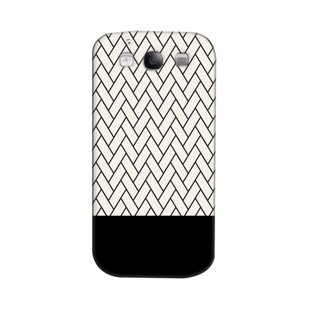 online store ac0e3 f949f Mangomask Samsung Galaxy S3 Mobile Phone Case Back Cover Custom Printed  Designer Series White And Black Boxes Pattern Two
