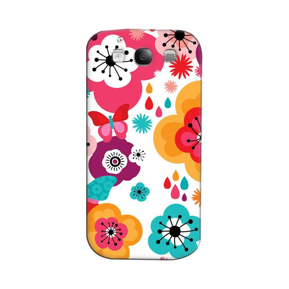 uk availability 09f3f 3dd79 Mangomask Samsung Galaxy S3 Mobile Phone Case Back Cover Custom Printed  Designer Series Colorful Butterfly Floral