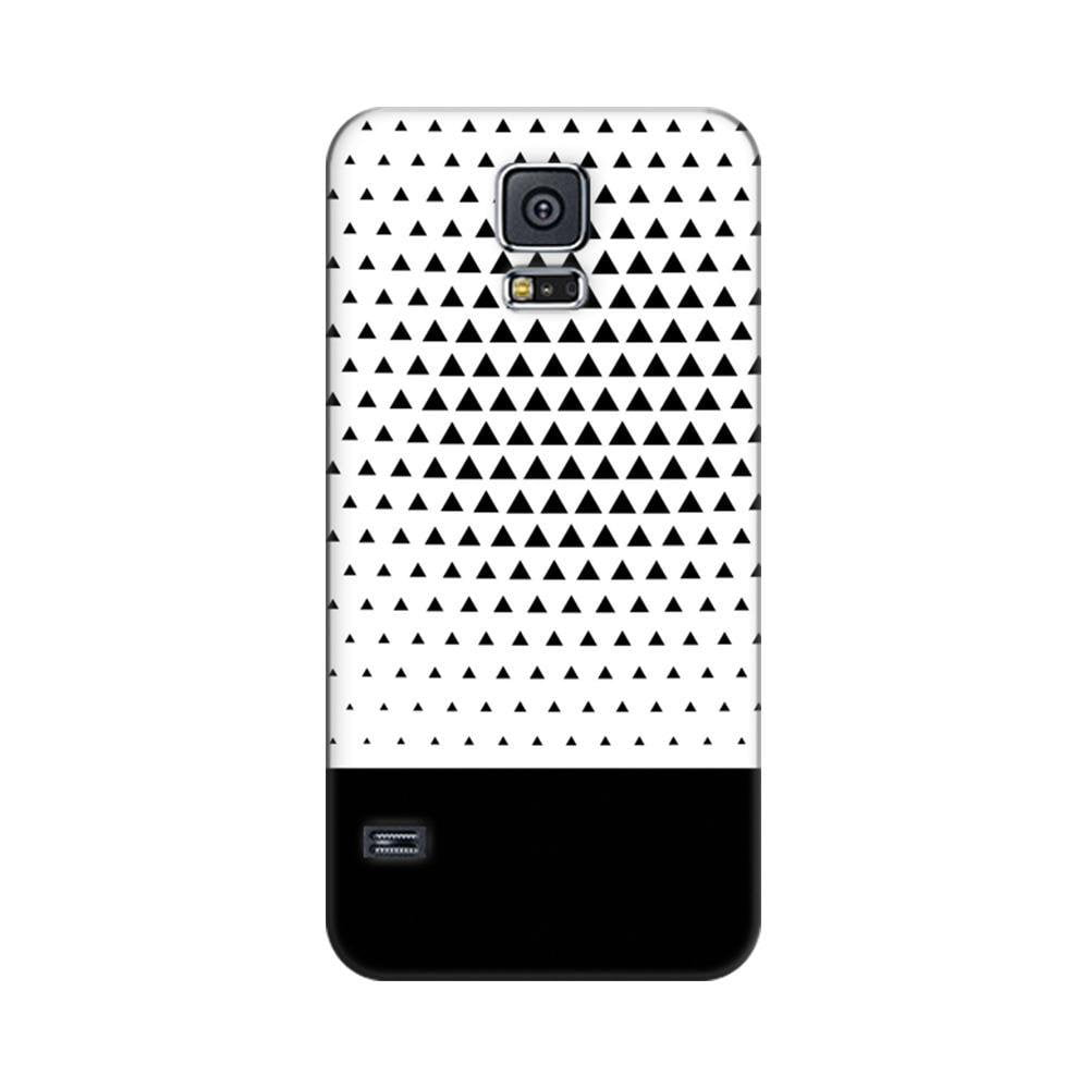 new style 45958 71766 Mangomask Samsung Galaxy S5 Mobile Phone Case Back Cover Custom Printed  Designer Series Black And White Triangles
