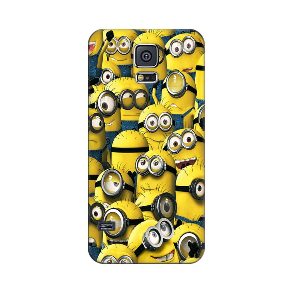 pretty nice c9804 0be82 Mangomask Samsung Galaxy S5 Mobile Phone Case Back Cover Custom Printed  Designer Series Funny Minions Despicable Me