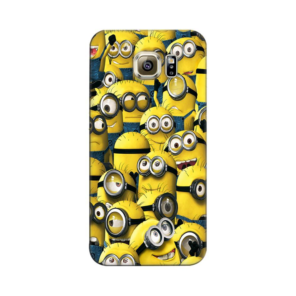 new concept 761b9 50fab Mangomask Samsung Galaxy S6 Mobile Phone Case Back Cover Custom Printed  Designer Series Funny Minions Despicable Me