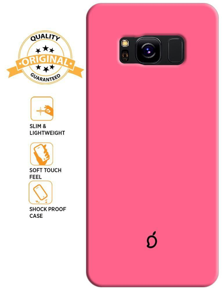Mangomask Samsung Galaxy S8 Mobile Phone Case Back Cover Custom Printed Neon Series Coral Pink
