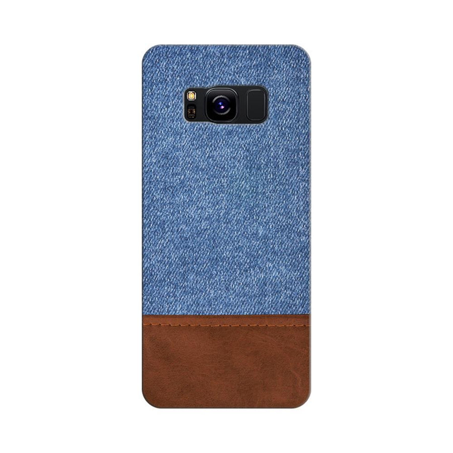Mangomask Samsung Galaxy S8 Mobile Phone Case Back Cover Custom Printed Designer Series Blue Leather Jeans